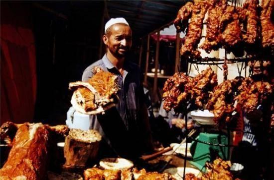 新疆和田羊肚子烤肉看着就流口水