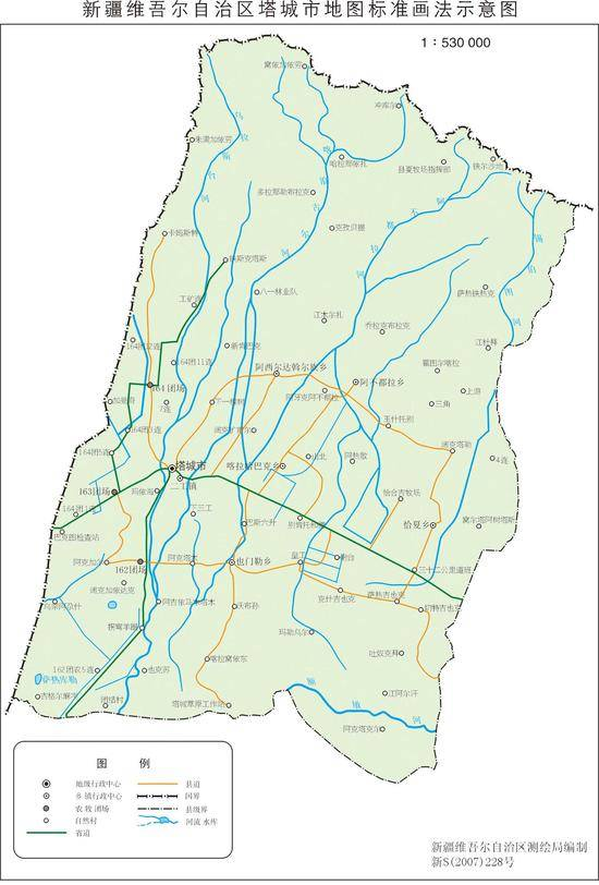 新疆塔城市地图
