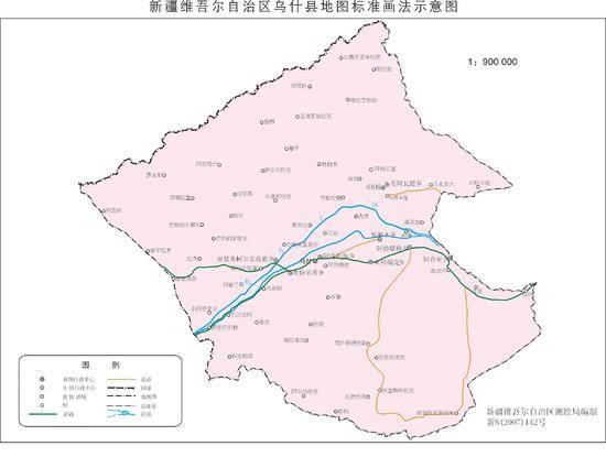 新疆乌什县地图
