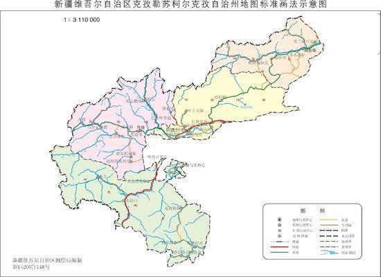 新疆克孜勒苏柯尔克孜自治州政区地图