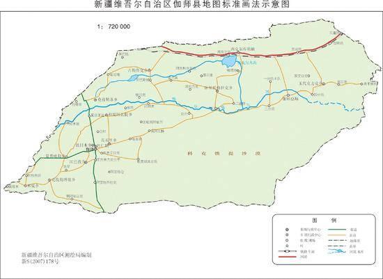 新疆伽师县地图