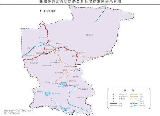 新疆若羌县地图