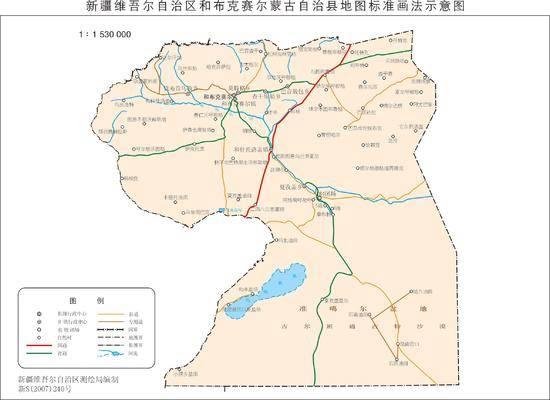 新疆和布克赛尔县地图