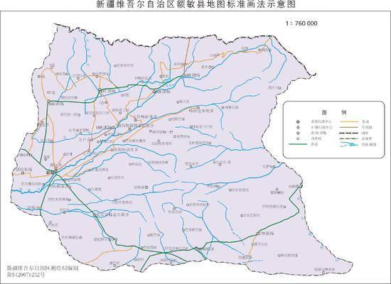 新疆额敏县地图