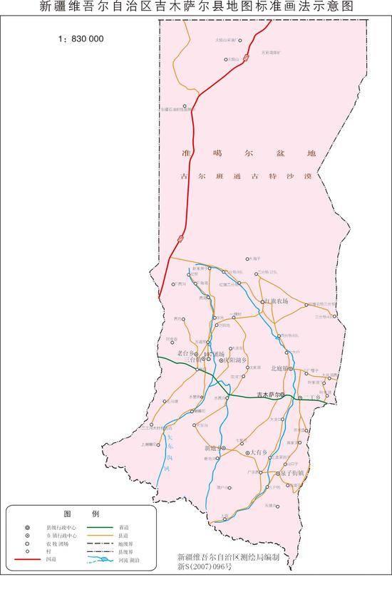 新疆吉木萨尔县地图