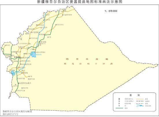 新疆麦盖提县地图