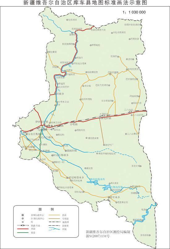 新疆库车县地图