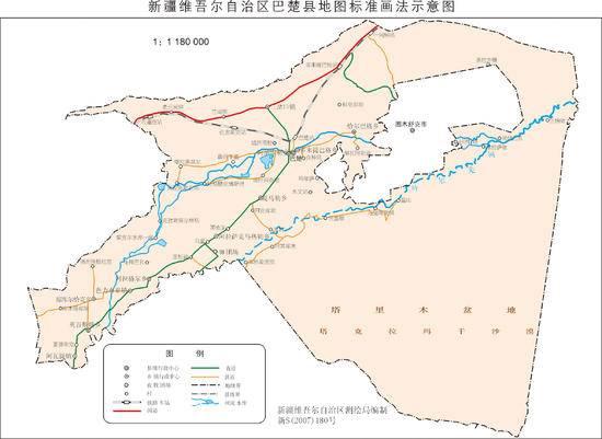 新疆巴楚县地图