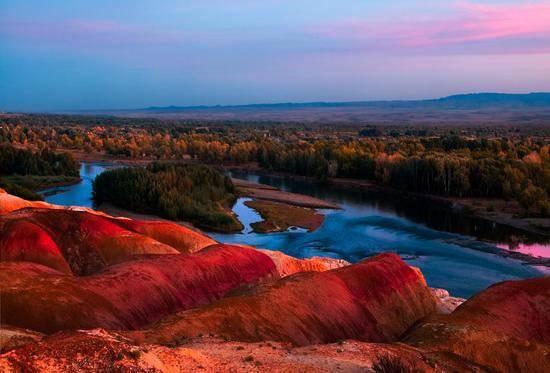 新疆阿勒泰额尔齐斯河,图二