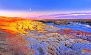 新疆阿勒泰五彩灘