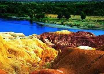 新疆阿勒泰五彩滩,图三