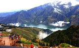 新疆天山天池马牙山观景点