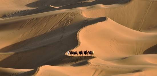新疆吐鲁番库木塔格沙漠,图一