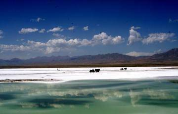 新疆乌鲁木齐市盐湖生态旅游区,图一