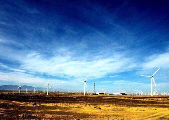新疆乌鲁木齐达坂城风力发电站,图一